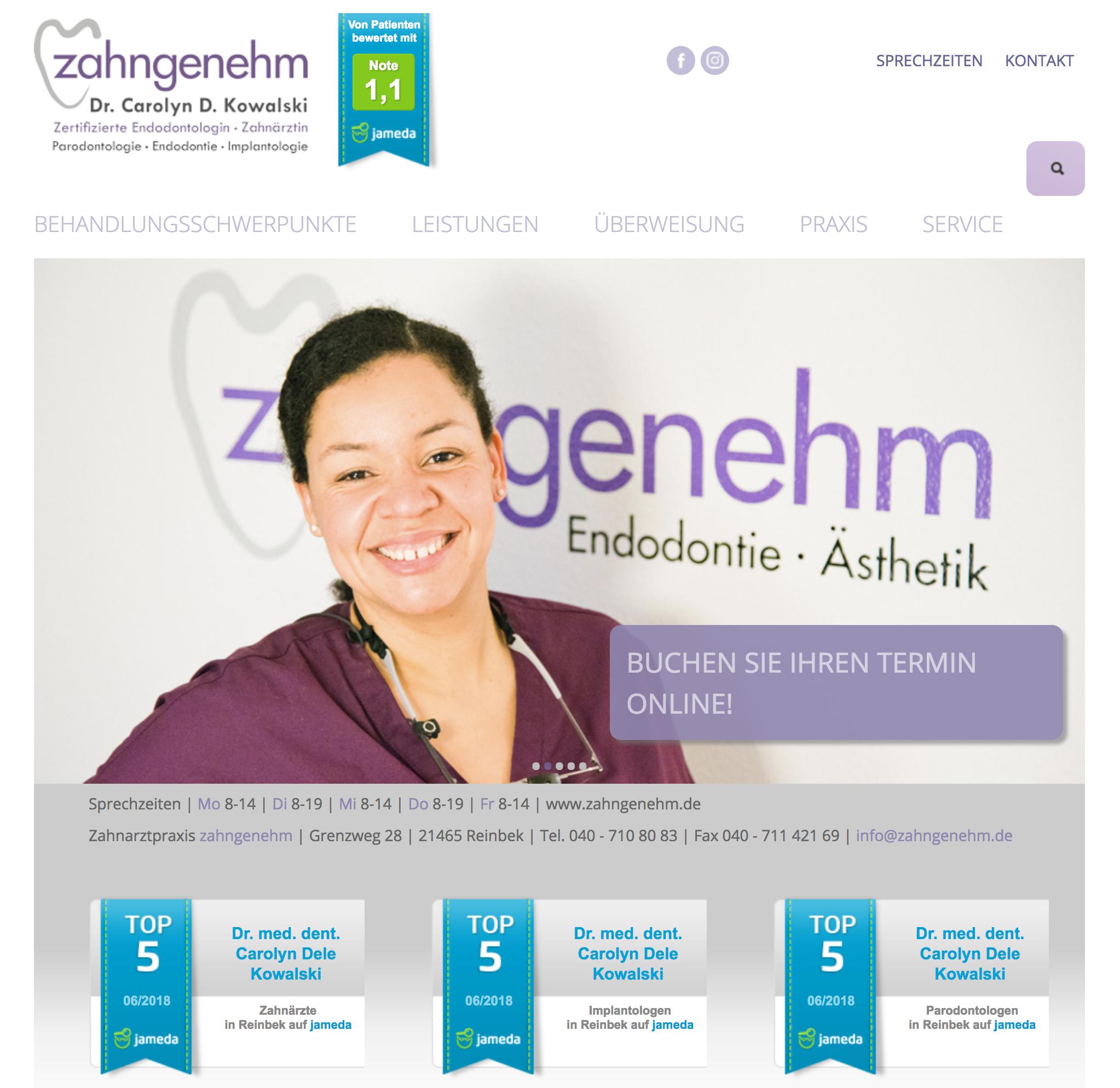 Webdesign_zahngenehm_WSADesign